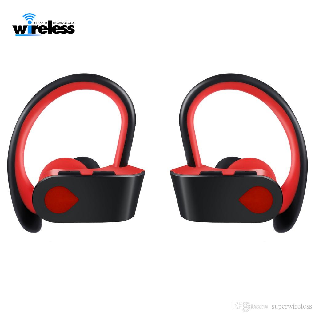 TWS 3 Wireless Bluetooth Headset Earphone In-ear Sports ear hook wireless Headphones Earbuds for iphone samsung earphones