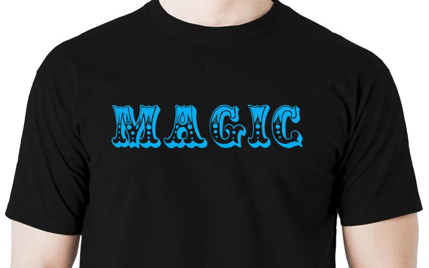 Magic t shirt magician tricks illusion stage birthday party balloons Men Women Unisex Fashion tshirt Free Shipping black