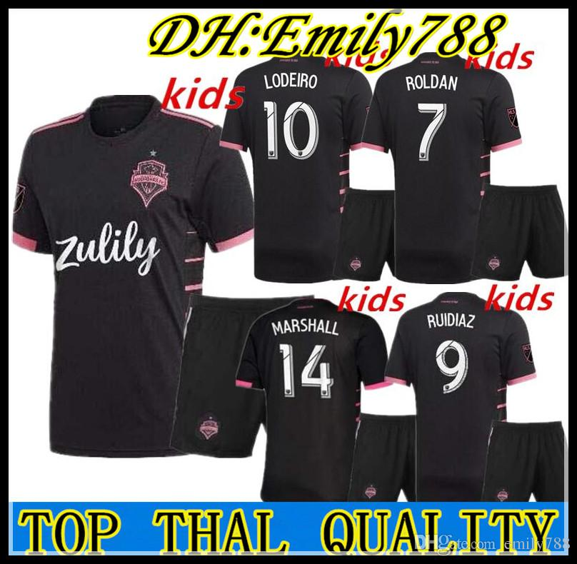 new arrival 1b125 ac189 Kids kit 2019 2020 Seattle Sounders FC AWAY Soccer Jersey 19 20 MLS RUIDIAZ  MORRIS LODEIRO MARSHALL Football Shirt