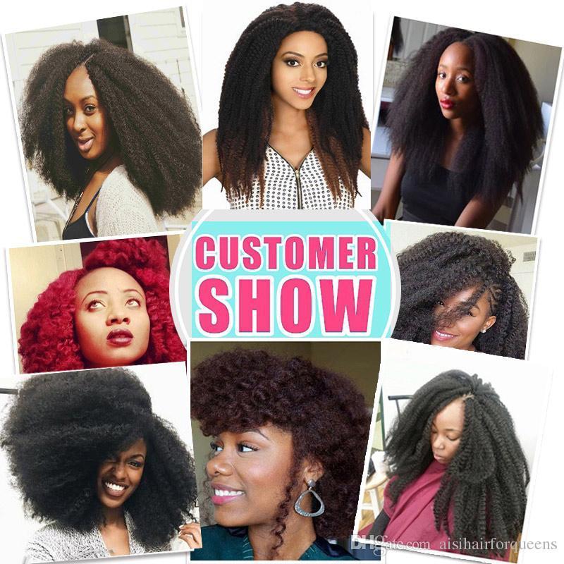 2019 Afro Twist Kinky Marely Braids Kanekalon Crochet Braid Hair