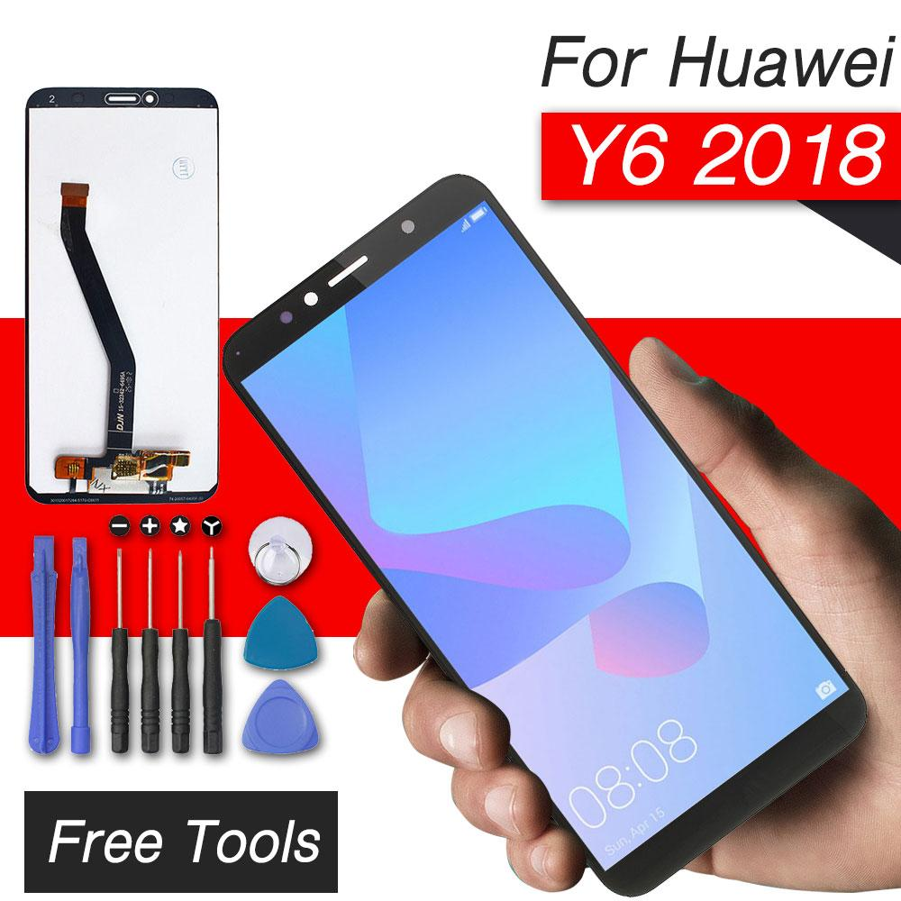 lcd replacement display for huawei y6 2018 lcd screen with touch screen for  huawei honor 7a y6 2018 display assembly