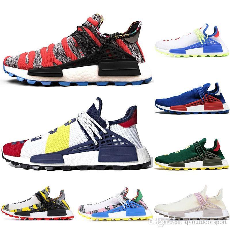 brand new 6132d 27a83 2019 Cheap Luxury NMD Human Race Nerd Pharrell Williams X BBC Yellow Black  Nerd Sports Running Shoes designer Men Shoes Women sneakers
