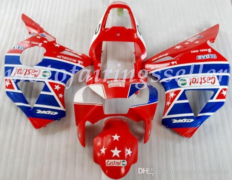 OEM Quality New ABS Full Fairings Kits fit for HONDA CBR954RR (2002-2003) CBR954 02 03 Bodywork set Red Blue white no1