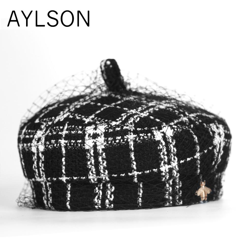 ecc26af023f 2019 AYLSON Berets French Hat Takes Female Women S Hat His Winter ...