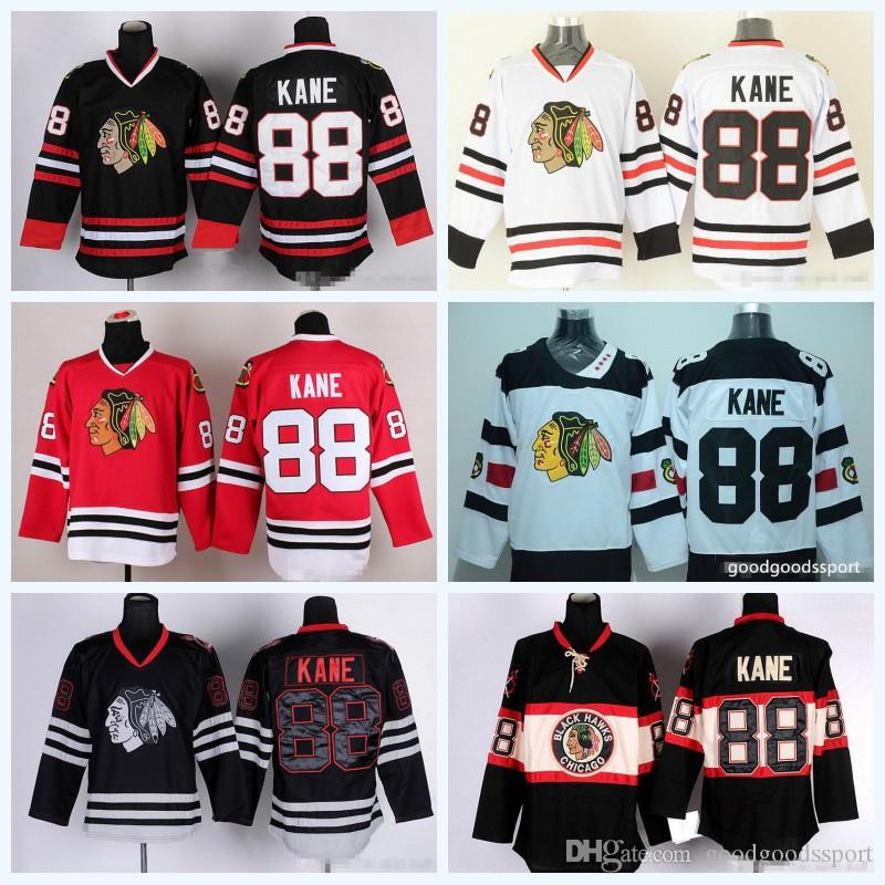 a3e01a47d66 sweden 2019 2017 chicago blackhawks jerseys hockey 88 patrick kane jersey  stadium series winter classic black
