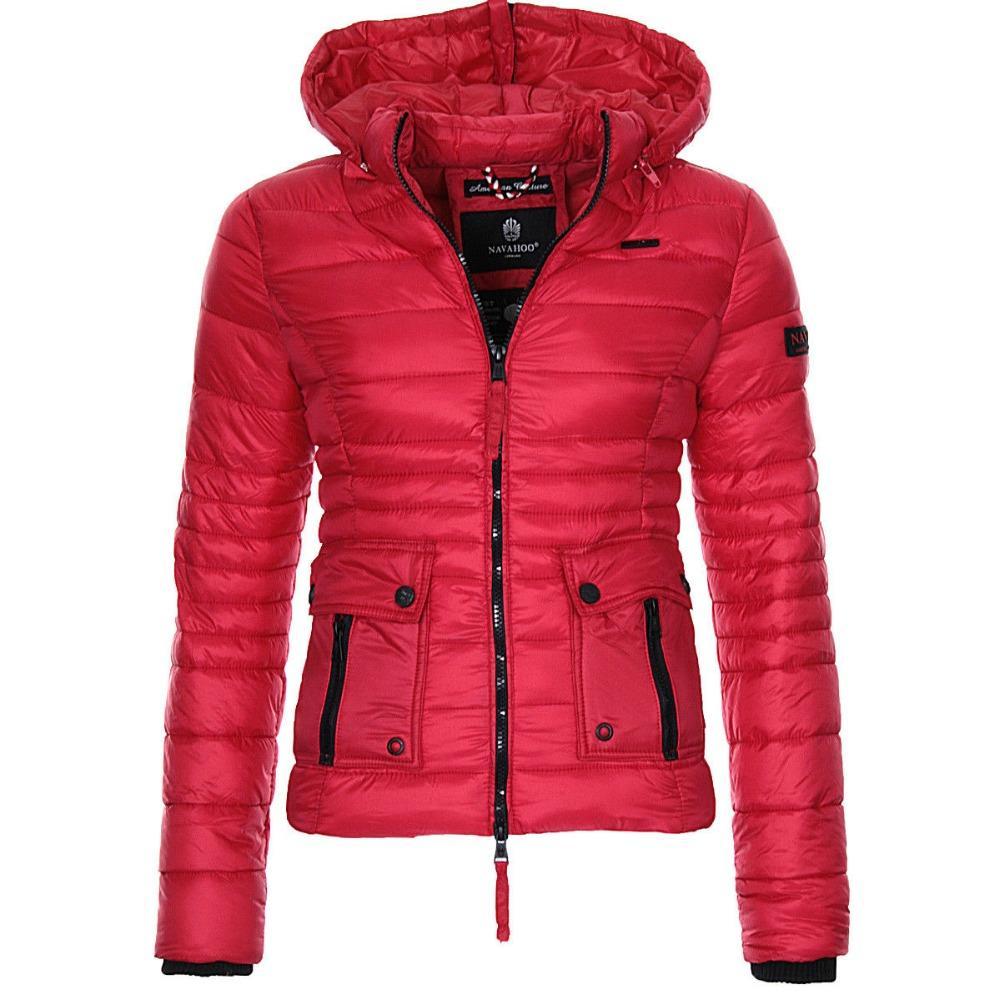 Zogaa Frauen Winter Parka Warme Mantel Puffer Jacken Frauen Mäntel Mode Slim Fit Feste Beiläufige Mit Kapuze Mantel Outwear Parkas Jacken & Mäntel