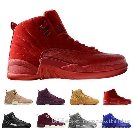 ce1c9a59e89 12 Jumpman Bordeaux Shoes New Public School PSNY X 12 Bordeaux Sail-Metallic  Silver Basketball Shoes High Quality Men Sneakers Jumpman 12s New Shoes  Online ...