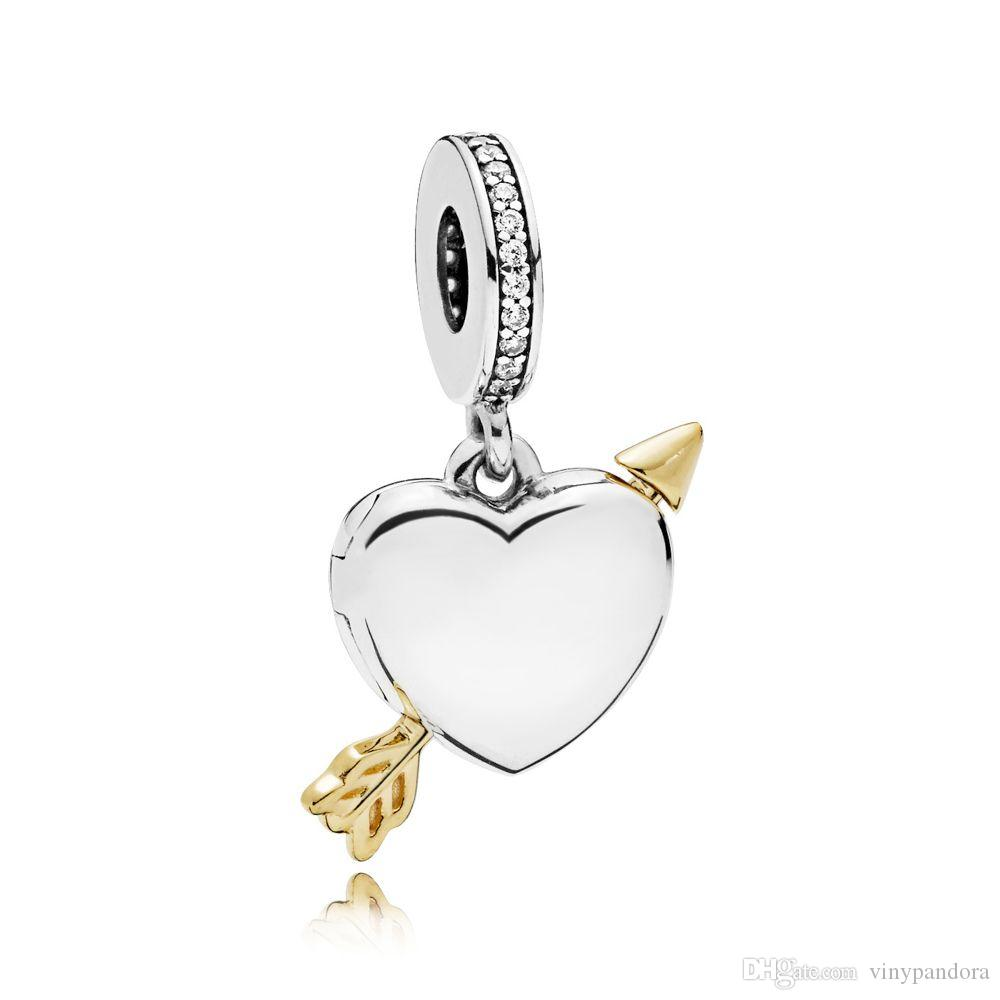 Jewelry Sets & More Charms New 925 Sterling Silver Charm Youre My Rock Decorated Heart With Crystal Pendant Beads Fit Pandora Bracelet Bangle Diy Jewelry