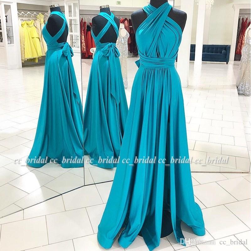 9472b865f7729 A-line Prom Dresses 2019 Sexy V Neck Ruffled Dress For Party Women Cross  Back Cheap Evening Special Occasion Gowns Cheap Vestido de Festa
