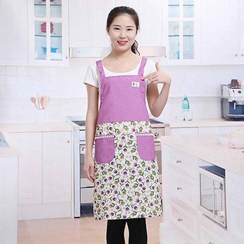 Ladies Cooking Sleeveless Waterproof Apron Oil-proof Strap With Interwoven Slip Apron H Shoulder Strap Home Cleaning Tools