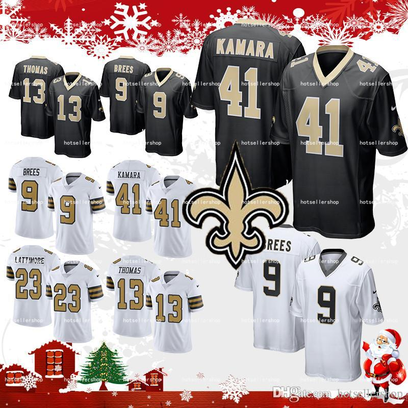 4e64ceaf439 2018 New Orleans Saints Jersey 41 Alvin Kamara Football Jerseys 9 Drew  Brees 23 Marshon Lattimore 13 Michael Thomas 28 Adrian Peterson Top Sale  From ...