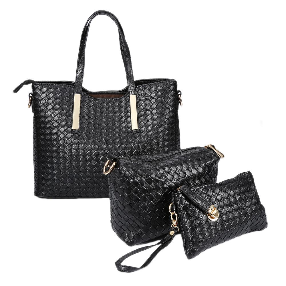 Compre Negro Cuadrado Las Moda Señoras Bolso De 3 Mujer Unids Estilo FqI4nwFr7