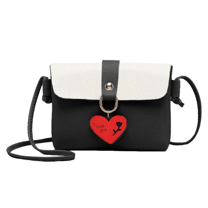 61eb9b76bc7 Designer Women Hit Color Sling Messenger Bag Creative Love Heart PU Leather  Crossbody Bags Girls Shoulder Satchel Bag Bolsa Feminina New Beach Bags  Duffle ...