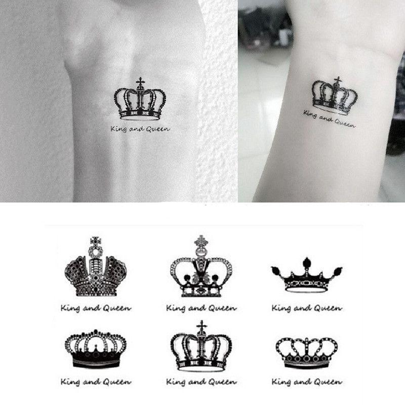 0124241e92c58 NEW 2018 Temporary Tattoo Sticker Waterproof Decals Fake Tatoo Art Taty  Crown English Words Pattern Tattoo Sticker D19011203 Huge Temporary Tattoos  Justin ...