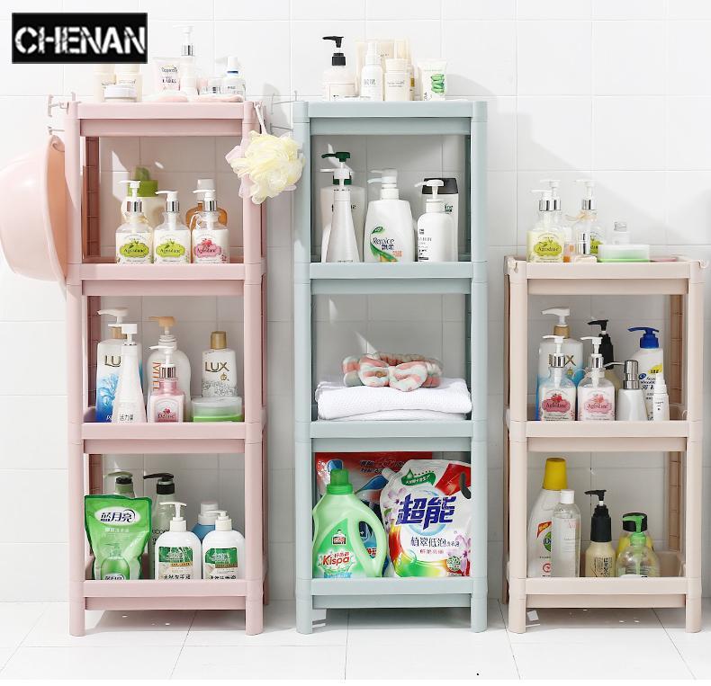 3 Tier Storage Rack Household Shelf Organizer Combination Plastic Floor  Living Room Kitchen