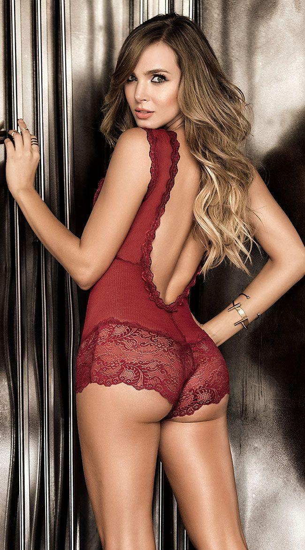Yaz Kadın Sexy Lingerie See-through Dantel Derin V-Yaka Mikro İnce Bodysuits Hollow Out örgü Catsuit Erotik Seks Kostüm