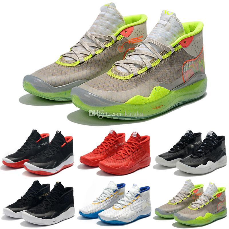 9dfa5d20b9923 2019 New Kevin Durant XII KD 12 Sports Basketball Shoes For Mens Top  Quality Triple Black Red 12s Designer Sports Sneakers Trainers 7 12  Basketball Shoes ...