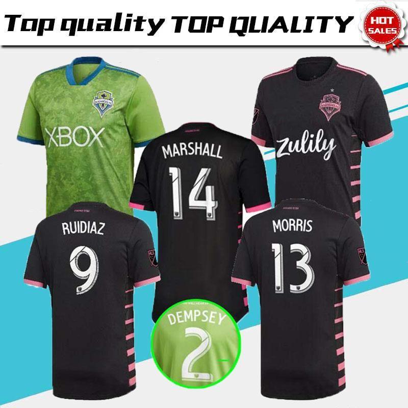 buy online 4962a fdb2c Adult 2019 Seattle Sounders soccer jersey 2019 2020 Away DEMPSEY MARTINS  ALONSO LODEIRO TORRES football jerseys shirt