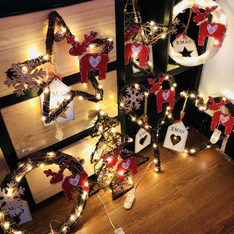 2eaaf8164cb Compre Adornos De Navidad Diy Tree Vines Compilado Árbol De Navidad  Decoraciones De Ratán Para El Hogar Colgante 20 Luces Led A  38.28 Del  Kuaikey