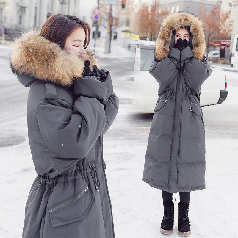 2019 Faux Fur Collar Long Parkas Down Cotton Jacket Winter Jackets Women Thick Snow Wear Hooded Coat Lady Clothing Female A1155