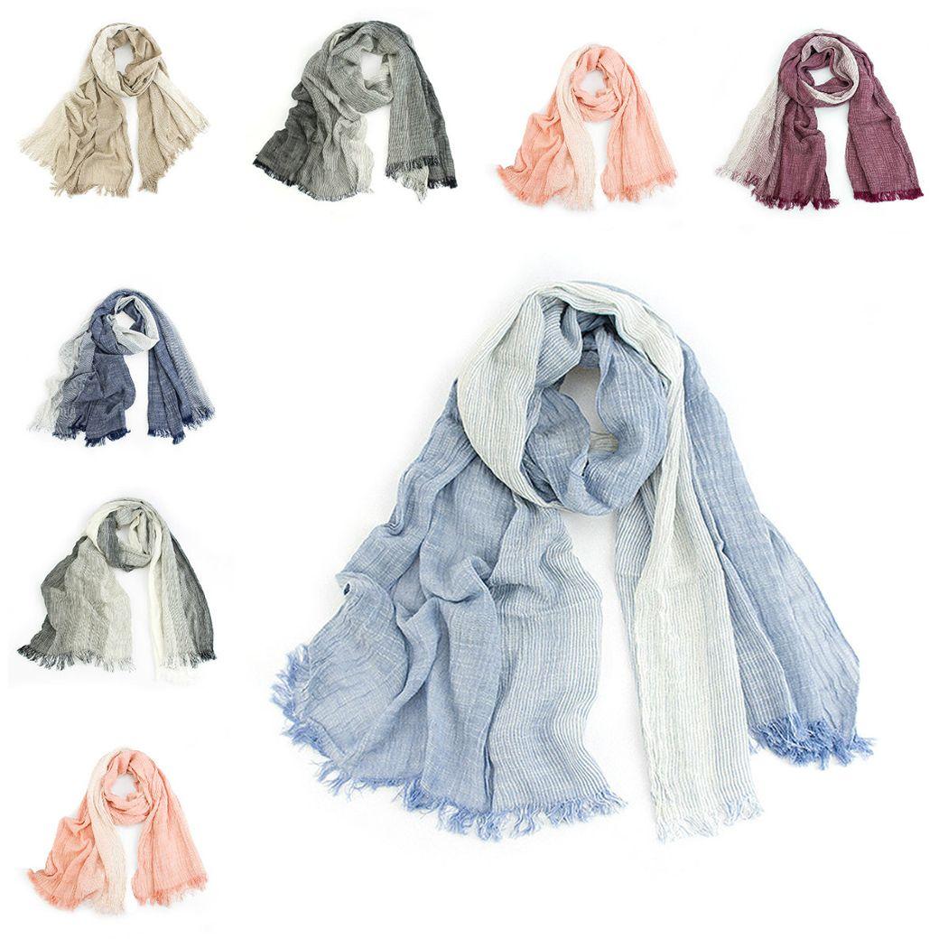 144db4edf Autumn Winter Scarf Unisex Men And Women Soft Tassel Bufandas Cachecol Gray  Plaid Woven Wrinkled Cotton Men Scarves Pashmina Scarves Window Scarves  From ...