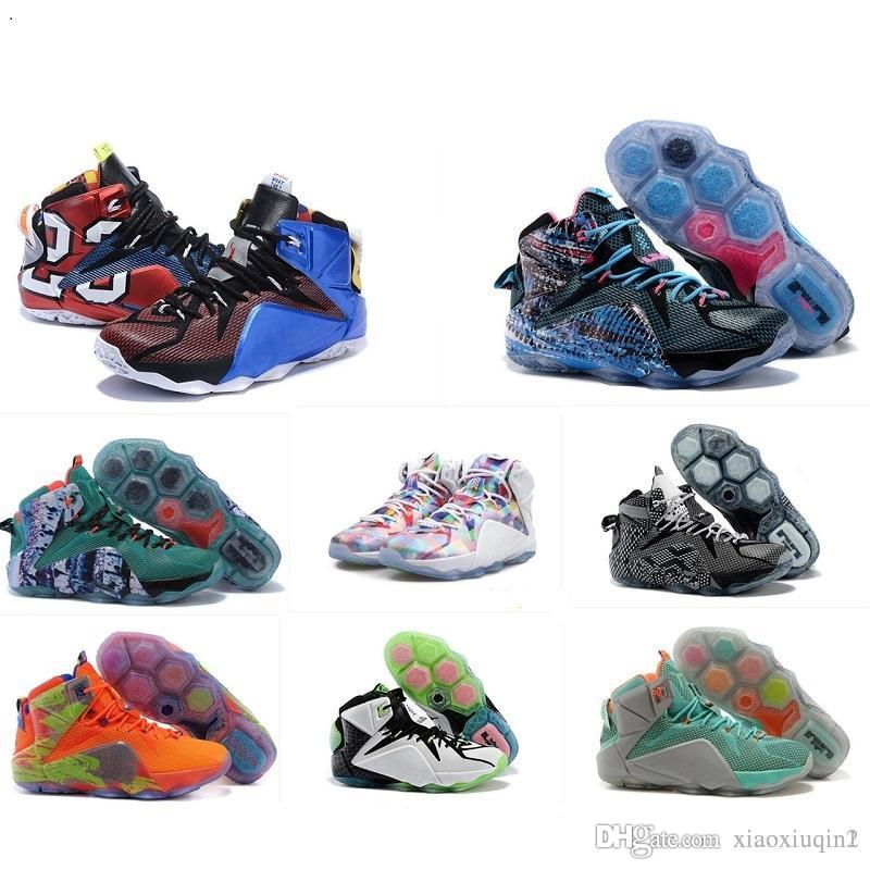 pretty nice 9f35f 86aa8 2019 What The Lebron 12 Mens Basketball Shoes For Sale Lebrons MVP  Christmas BHM Blue Easter Halloween DB James Boots Sneakers With Original  Box From ...