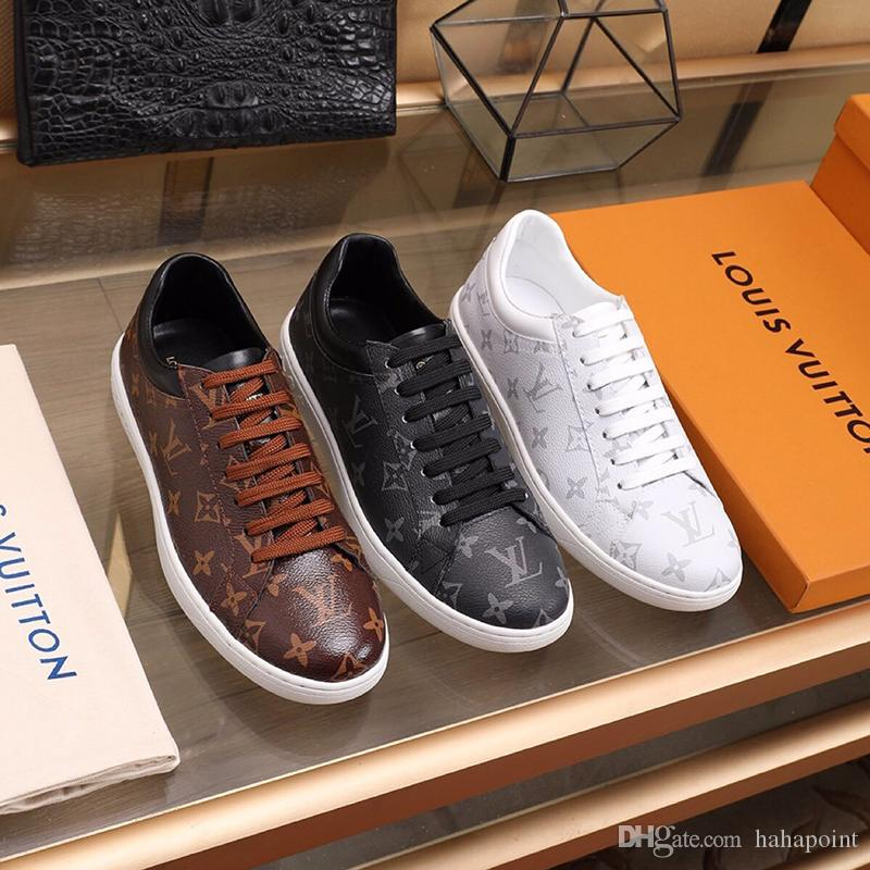 Men/'s Casual Walking Sneakers Fashion Lace Up Flat Shoes Low-Top Leather Shoes