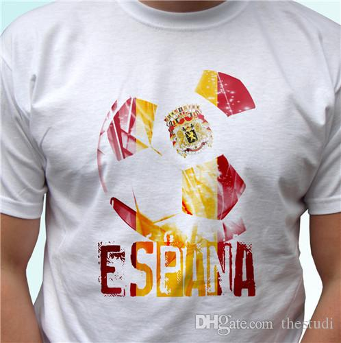 4e0ebd43 Spain Flag White T Shirt Espana Camiseta Soccer World Cup Top Tee All Sizes Tee  Shirts Online Shopping T Shirts Shop Online From Thestudi, $10.78| DHgate.