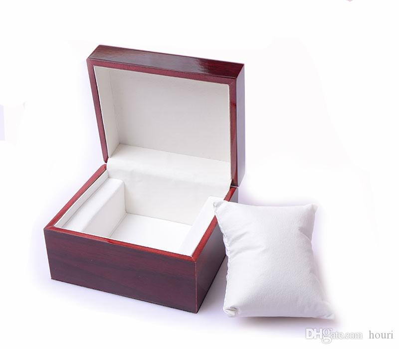 New luxury brown Fashion wood watch box with pillow package case wristwatches boxes