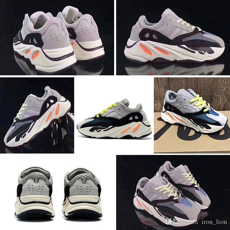 Adidas yeezy boot 700 Kinderschuhe Kanye West Wave Runner 700 Laufschuhe Kinder 700 Sportkleinkindschuhe Lässig Mit Box