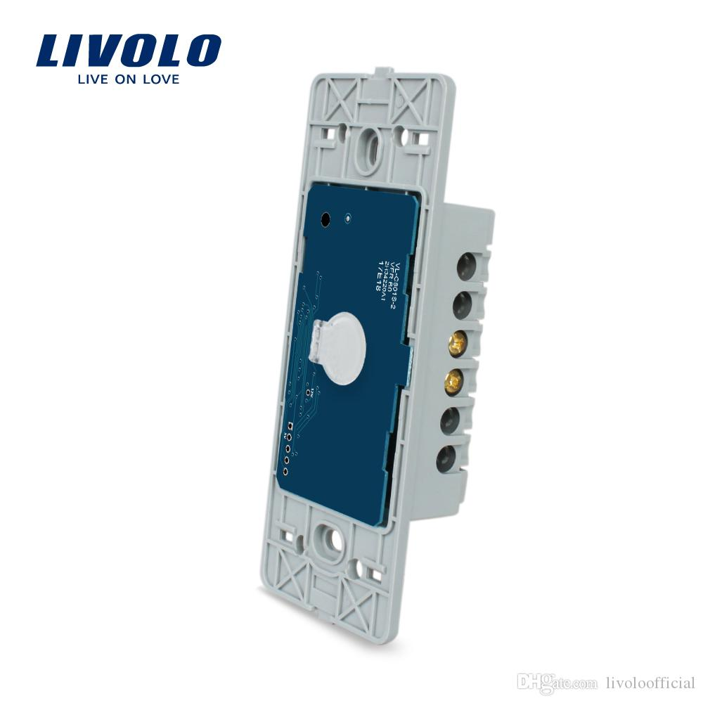 Livolo 1 gang Base of Touch Screen Wall Light Switch,7 FunctionS,US/AU Standard Luxury Wall Switch Without Glass Panel