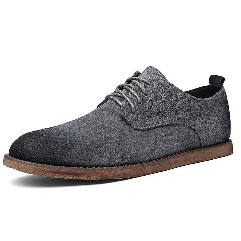 best loved bd965 b27cc Heißer Verkauf New Business Casual Männer Schuhe Designer Schwarz Gummi  Spitz Sommer Pinsel Günstige Lace Up Wildleder Britischen Stil