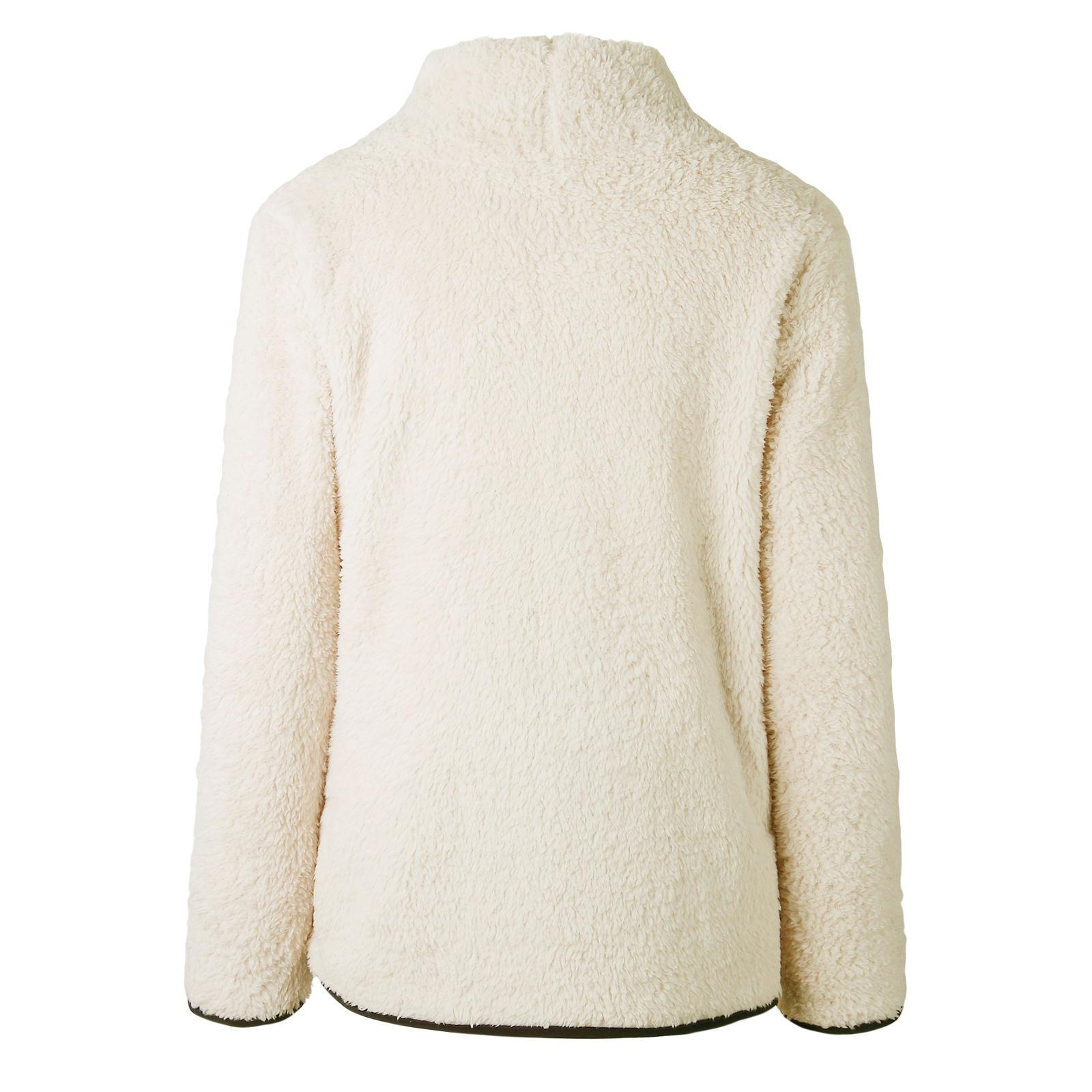 Casual Fest Rollkragen Langarm-lose Plüsch Fluffy Sweatshirt Frauen Warm-Winter-warmer Fleece Pullover Pullover Sweatshirts