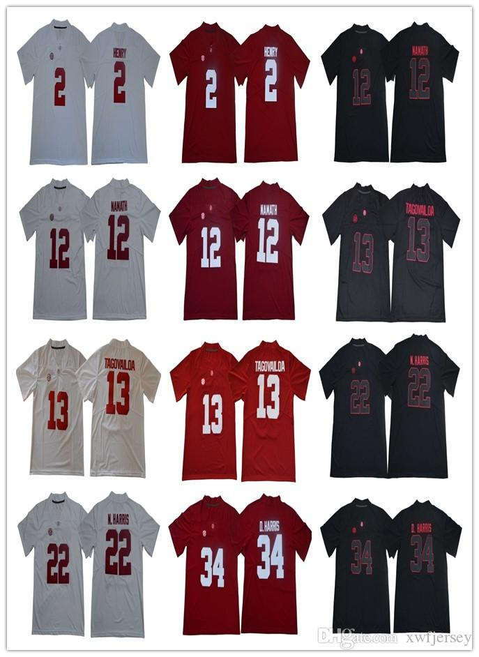 747d9b4ea Men s Alabama Crimson Tide 2 Henry 12 Joe Namath 13 Tua Tagovailoa ...