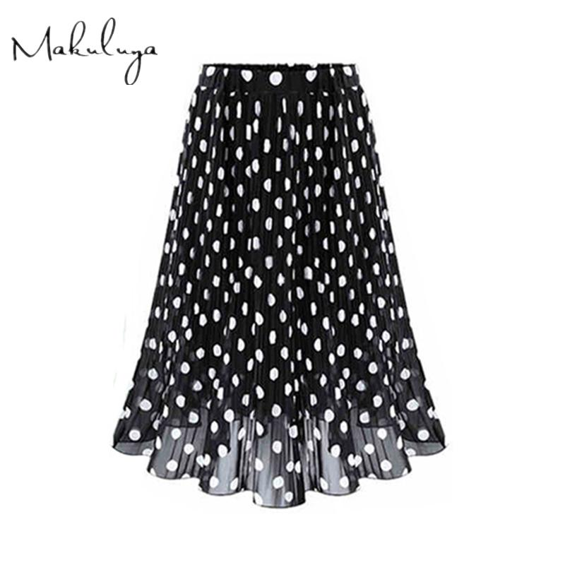 e162f904fcf6d Wholesale Women Chiffon Polka Dot Girl Summer Spring Female Black ...