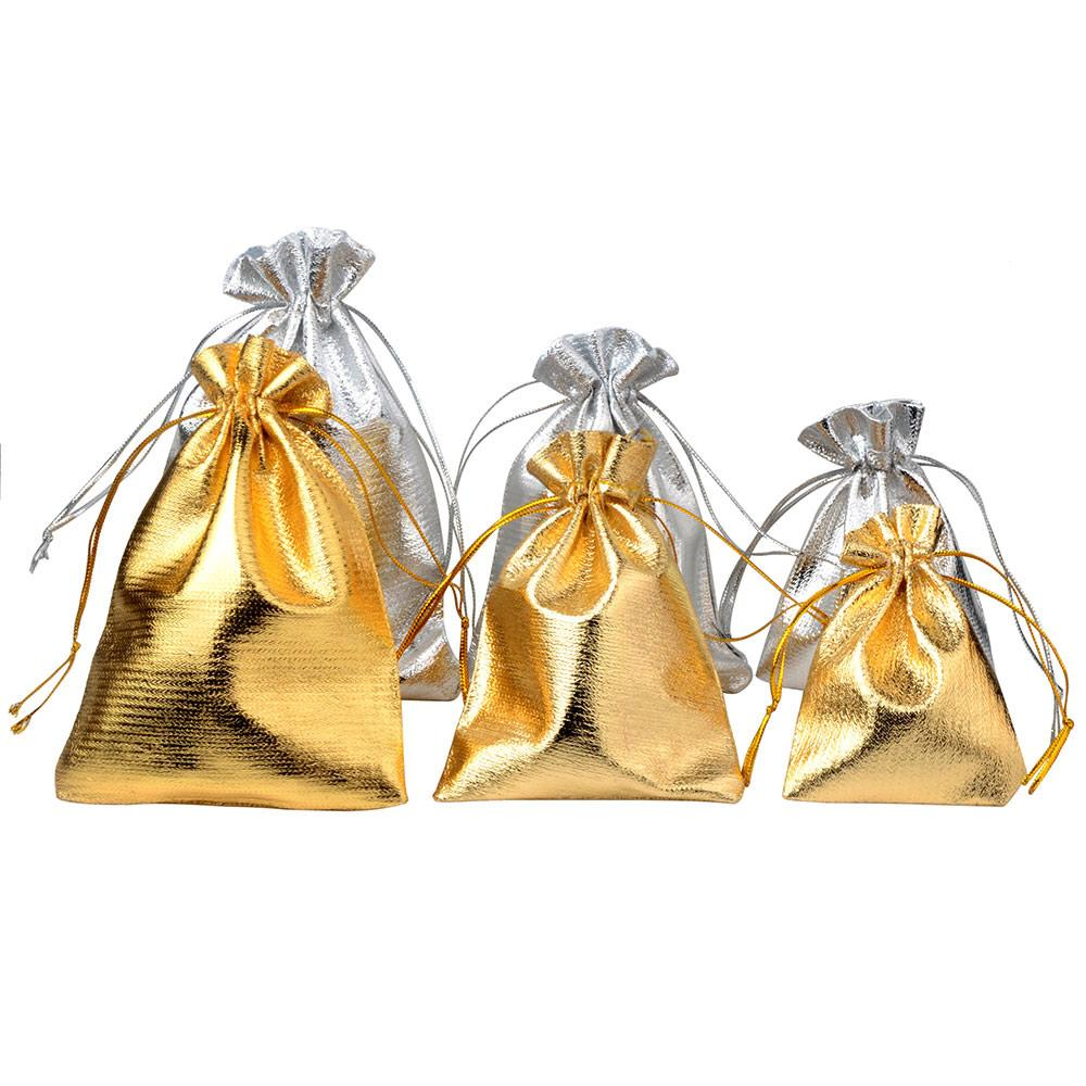 / bijoux emballage argent feuille d'or chiffon cordon sac de velours sac de cadeau de mariage 5 * 7cm / 7 * 9cm / 9 * 12cm Pochettes