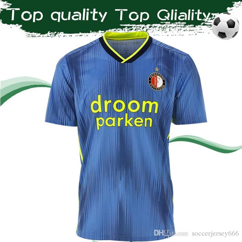 2020 Feyenoord Away Blue Soccer Jersey #32 V.PERSIE #9 JORGENSEN Football Shirt 1920 Rotterdam Maillot De Foot Uniforms On Sale