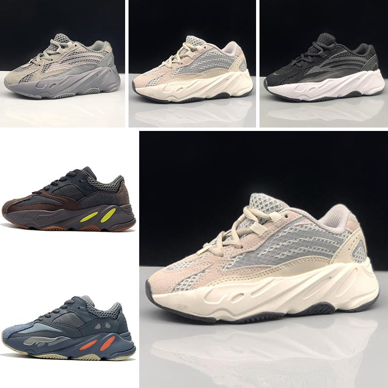 ae7008a0801 Acheter Adidas Yeezy 700 2019 Nouveaux Enfants Chaussures Wave Runner 700  Kanye West Chaussures De Course Garçon Et Fille Entraîneur Sneaker 700 Sport  ...