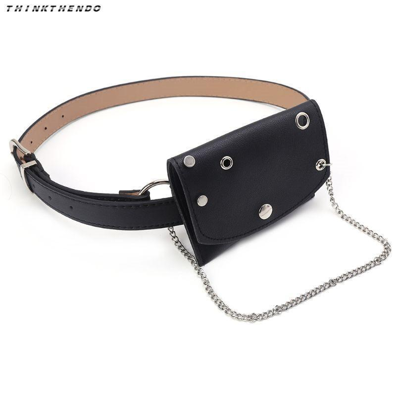 923e3d90bc8b Thinkthendo Fashion Women Waist Fanny Pack Belt Bag Girls Casual Phone Pouch  Travel Hip Bum Bags With Metal Chain Small Purse Cheap Bags Side Bags From  ...