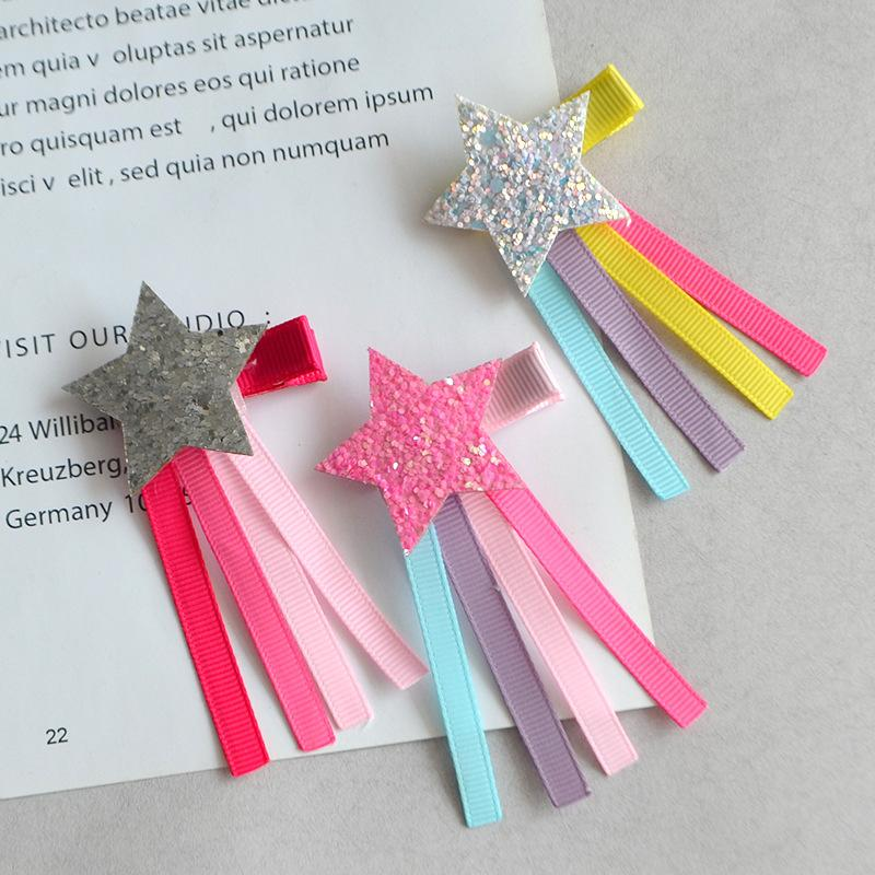 Boutique Fashion Cute Glitter Star Hairpins Solid Ribbon Tassels Star Hair  Clips Princess Headware Hair Accessories Fashion Boutique Hair Accessories  ... 2d33e7a7cea1