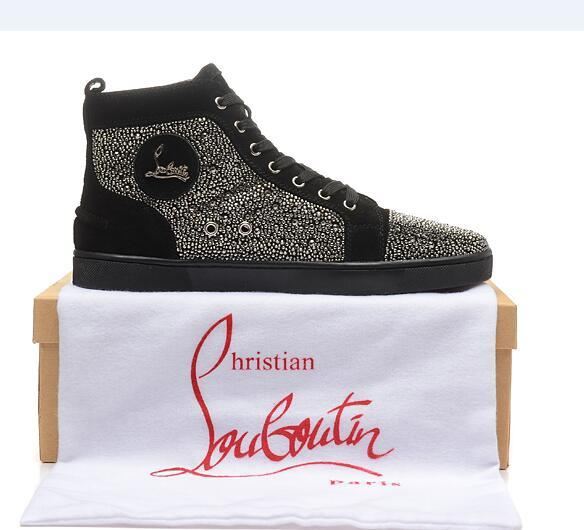 311c212f139 Christian Louboutin CL Free shipping men's and women's 2019 fashion low to  help casual red shoes sneakers size 35-46 q10