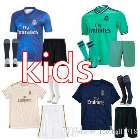 newest 104fa a07a6 2019 2020 Real Madrid kids kit soccer jerseys RONALDO kids jersey 19 20  Home ASENSIO MARCELO BALE ISCO MODRIC child football shirts kit