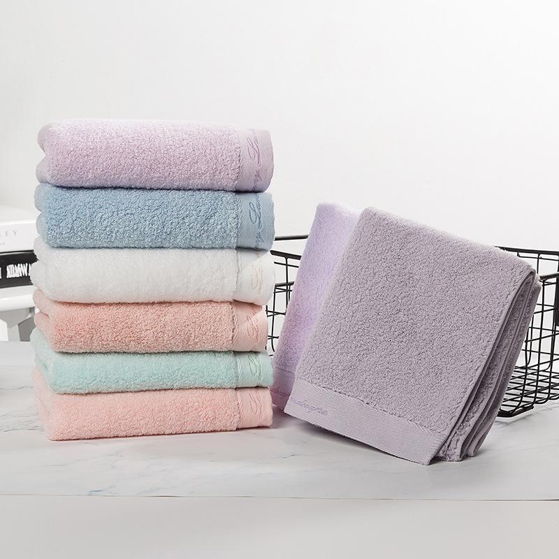 100 Organic Cotton Face Towel Solid Color Bath Towel Hair Hand