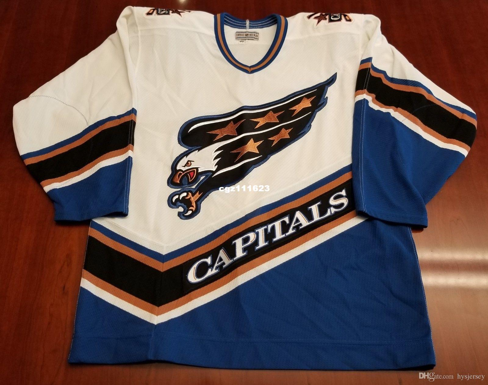 2443559a0 2019 Wholesale Custom Washington Capitals Vintage CCM Cheap Center Ice  Authentic Pro Hockey Jersey White Mens Retro Jerseys From Hysjersey
