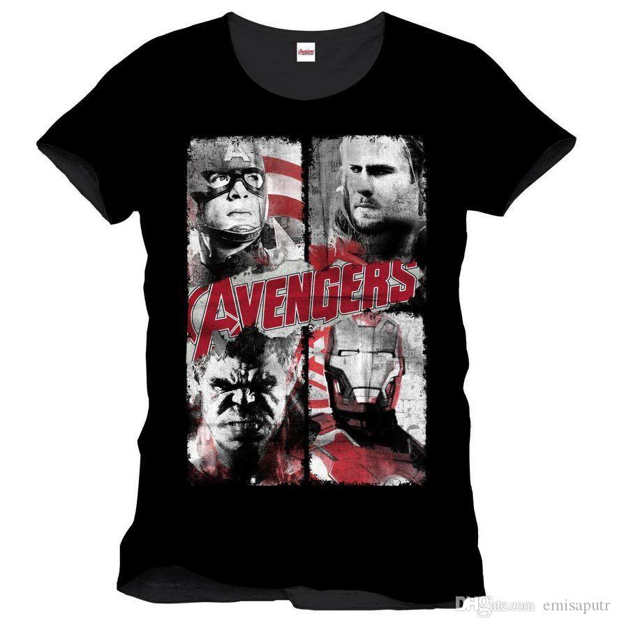 beauty best loved 100% quality Avengers - Retro Poster T-Shirt Homme - Man XXL TIMECITY