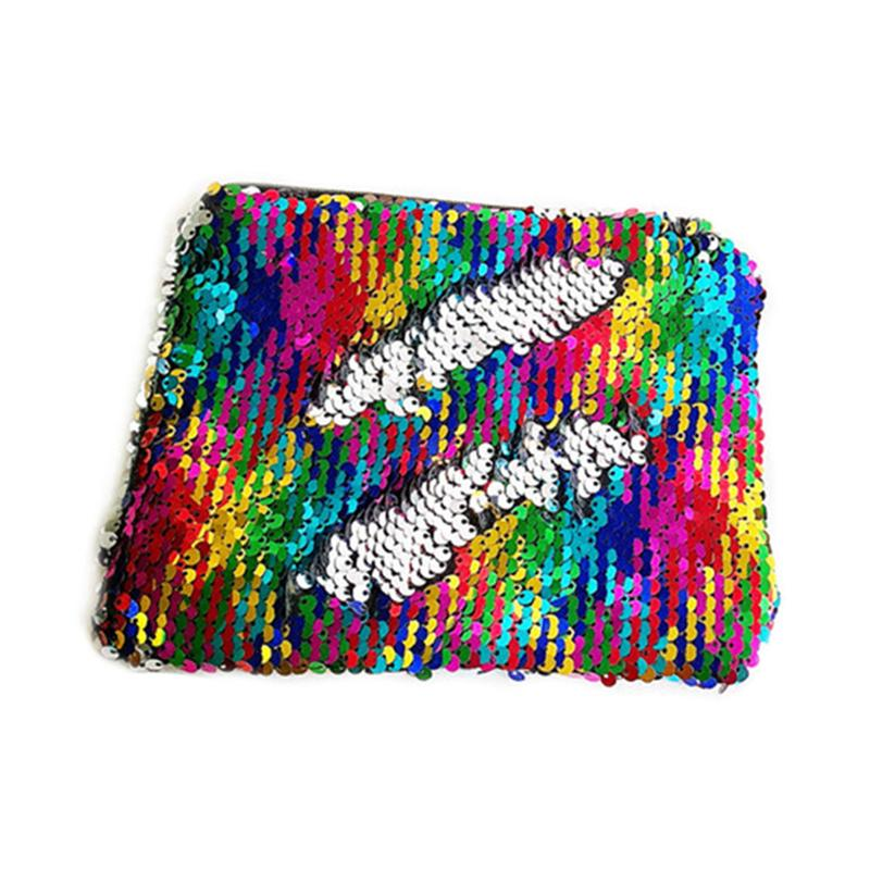 Casual Style Hot Selling Women Mermaid Sequin Glitter Cosmetic Bag Pencil Box Type Makeup Case Sequins Polyester Bags