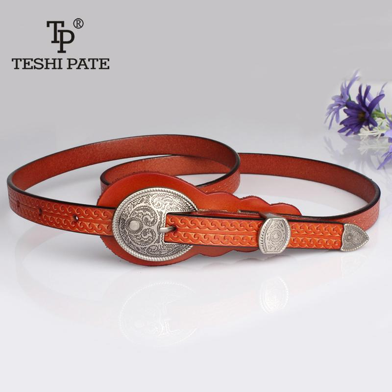 aff62361666 Dresses High Quality Women Fashion 2018 New Listing Retro Belt Famous Brand  Woman Belts For Dress Teshi Pate Tp C19041101