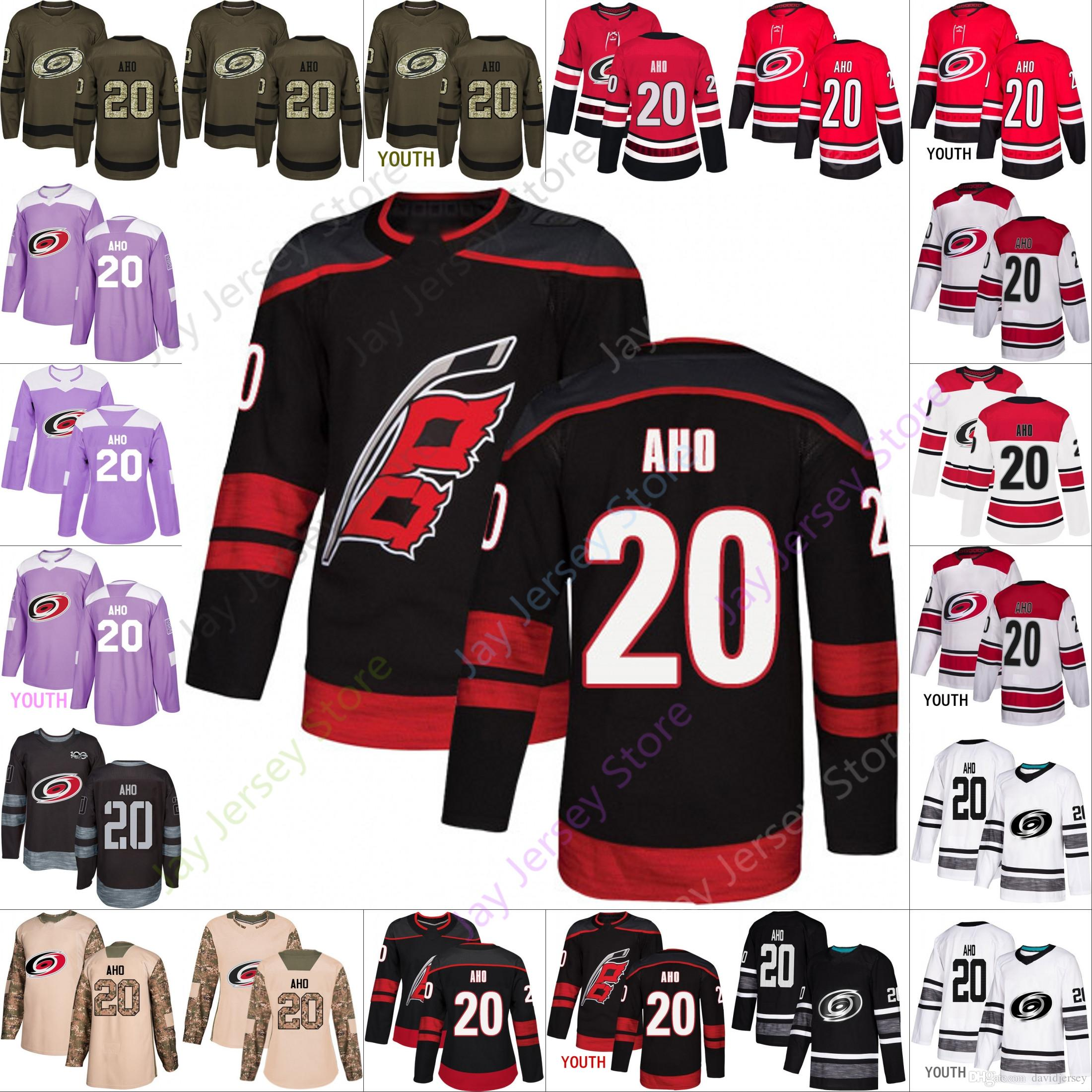 quality design eb56a 1c66e Carolina Hurricanes 20 Sebastian Aho Jersey Authentic 2019 Fashion Stadium  Series Jerseys Men Women Youth Kid Cheap