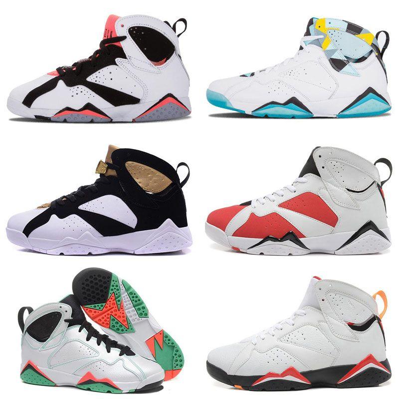 3b2185e9954 7s Classic Kids 7 Men Women Kids Basketball Shoes Pure Money Hare ...