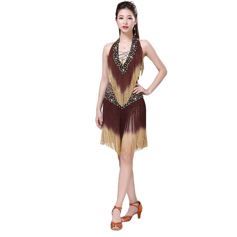 Acheter Dress 2018 Sexy Cheap Dress Femmes Jupe Professionnelle Danse Samba  Robes Salsa Latines De  54.77 Du App003  0b98d7b2639
